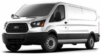 white ford cargo van