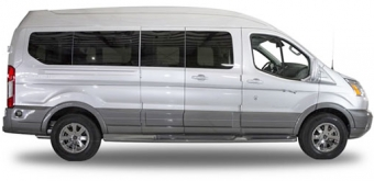 white conversion van